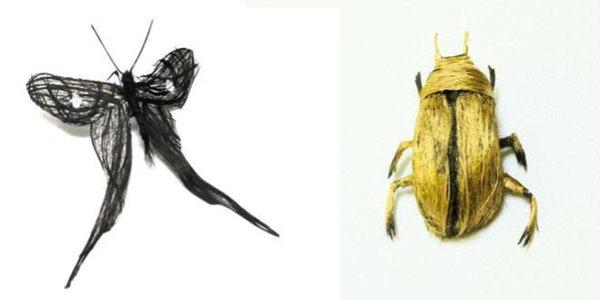 insetos_de_cabelo Cabelos viram insetos na mão de artista Curiosidades Papo de Praga