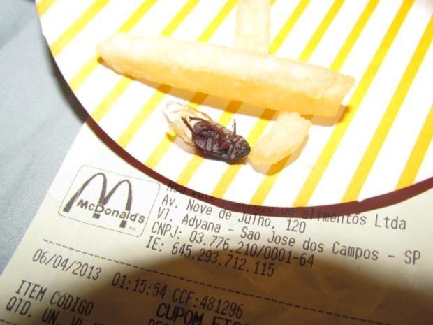 Mosca na batata do McDonald's