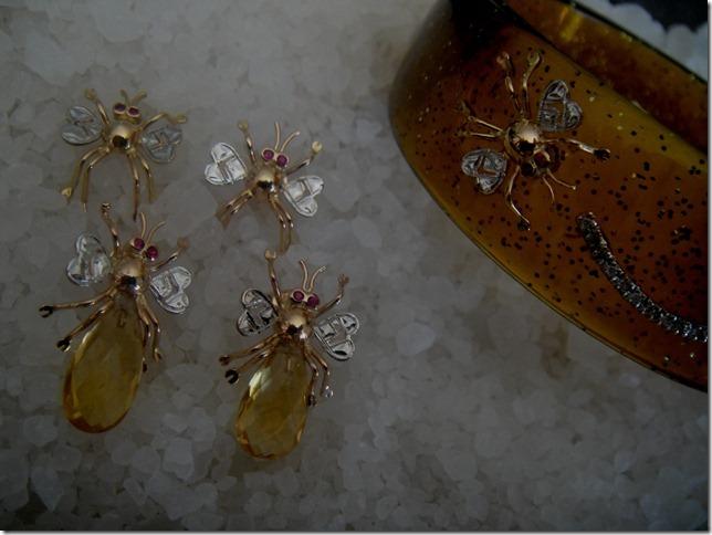 brincos_e_bracelete Joias de insetos – você usaria? Papo de Praga