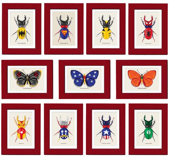 insetos_superherois Coleção de insetos super heróis Papo de Praga